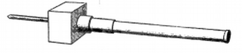 Drawing of the 70mm Anti-Aircraft Barrage Mortar