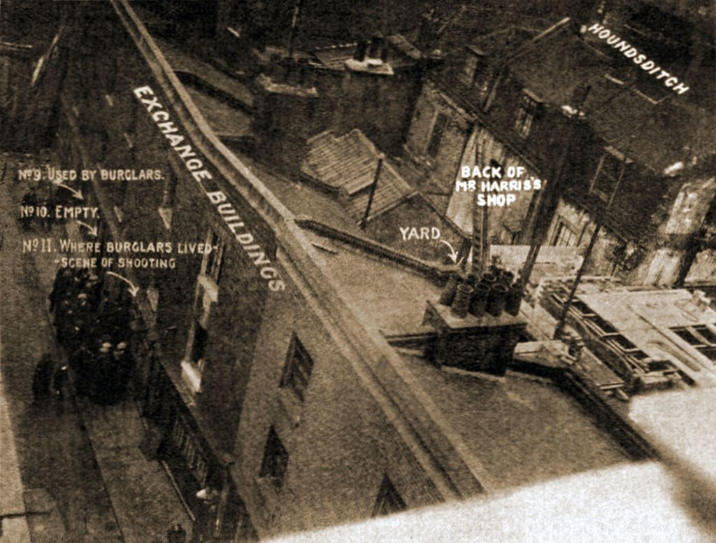 Scene of the 1910 Houndsditch   robbery and shootings